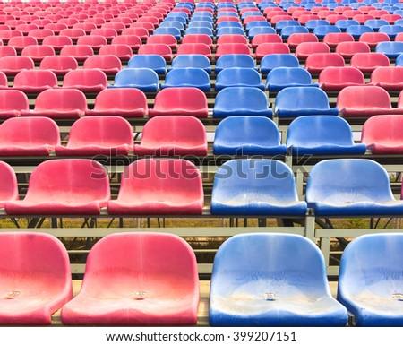 Chairs football stadium - stock photo