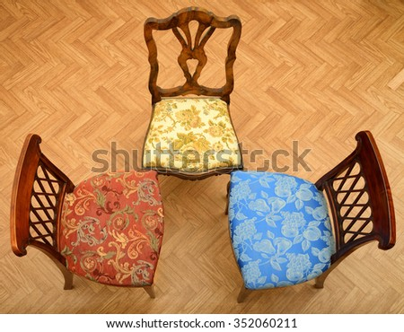 Chairs from above - stock photo