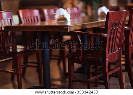 chairs in a cafe interior