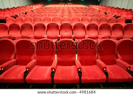chairs in a cinema - stock photo