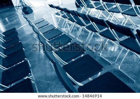Chairs in an audience - stock photo