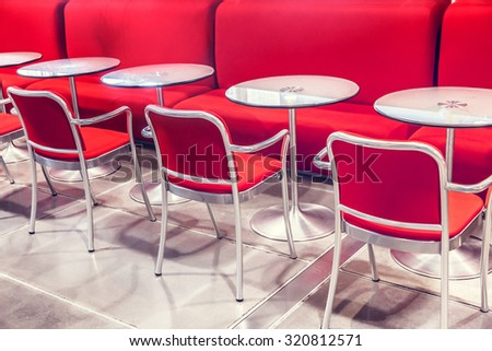Chairs in cafe - stock photo