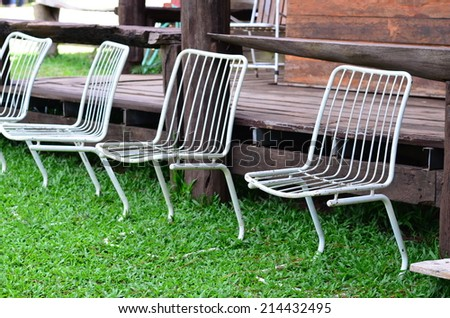 chairs in garden
