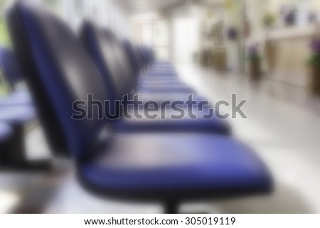Chairs in hospital Blur - stock photo