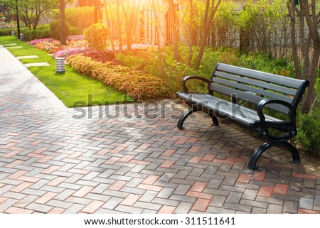 Chairs in the park - stock photo
