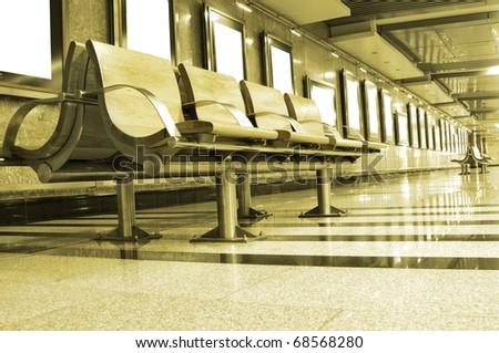 Chairs in Waiting area - stock photo