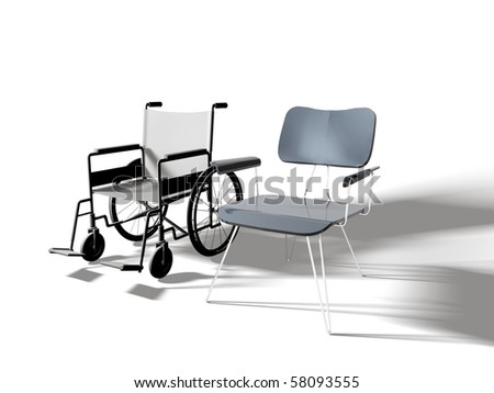 chairs isolated on white background