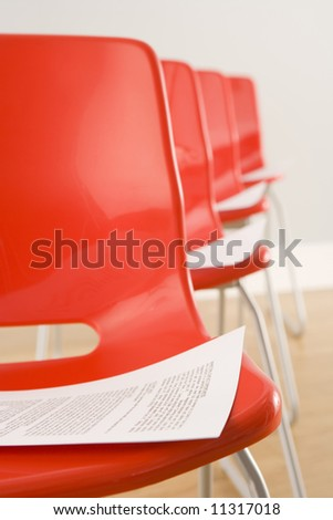 Chairs Laid Out For Conference - stock photo