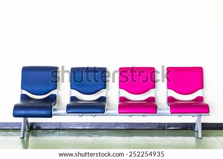 chairs of different colors.