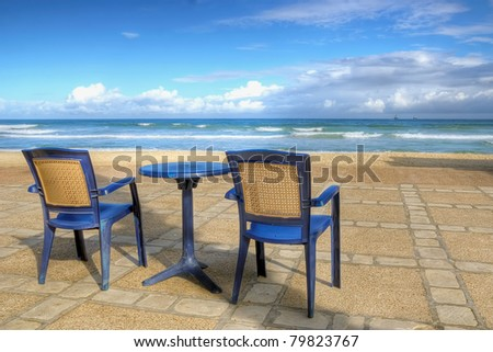 Chairs on a beach - summer vacation bliss