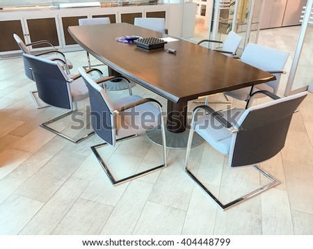 Chairs on a conference room.