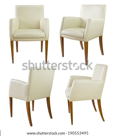 chairs set, VOL 1, clipping path included - stock photo