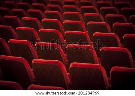 chairs theatrical - stock photo