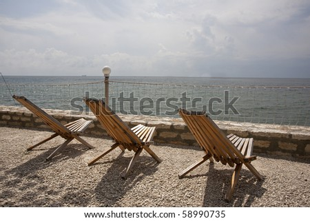 chairs with sea view