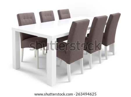 Chairs with table - stock photo
