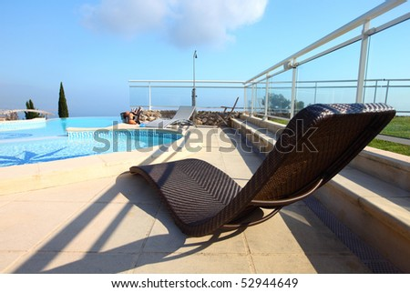 chaise lounge - stock photo