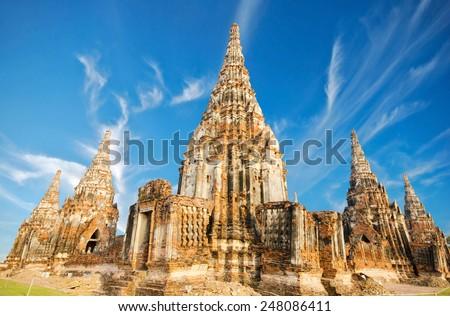 Chaiwatthanaram Temple in Ayutthaya,Thailand  - stock photo