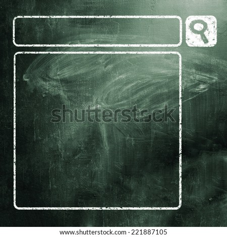 chalk board - stock photo