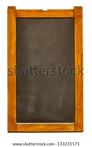Chalk board with copy space isolated