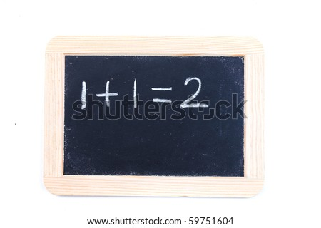 Chalk board with simple maths