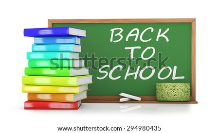 chalk board with the inscription back to school