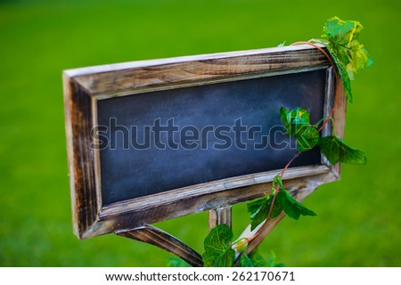 chalk board without inscription - stock photo