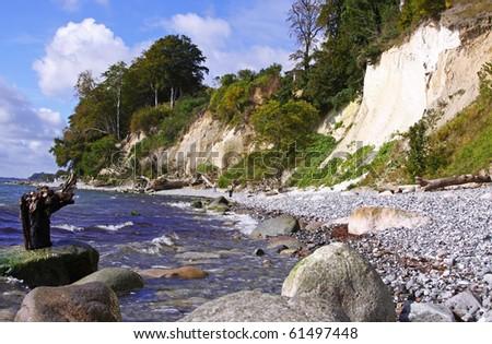 chalk coast Ruegen Germany - stock photo