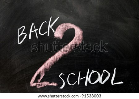 Chalk drawing - Back to school