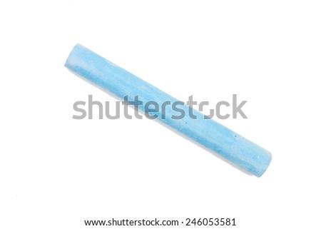 Chalk isolated on white background - stock photo
