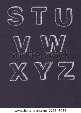 Chalk letters - stock photo