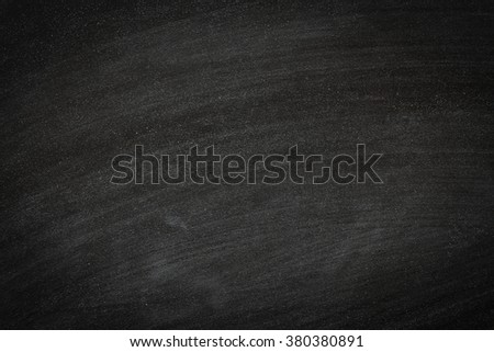Chalk rubbed out on blackboard texture - stock photo
