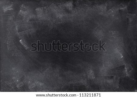 Chalk rubbed out on board. Space for advertising message - stock photo