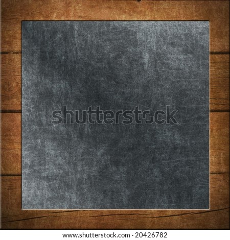 Chalkboard Background Framed With Wood