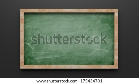 Chalkboard Drawing isolated on white background - stock photo
