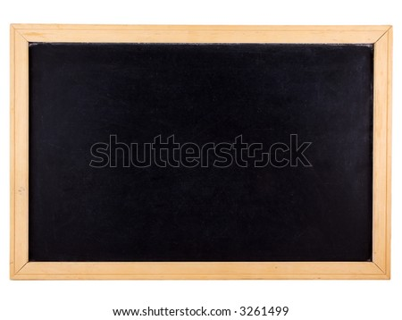 Chalkboard isolated on white