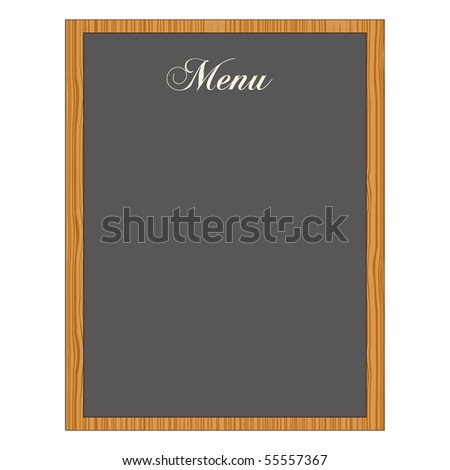 Chalkboard Menu - stock photo