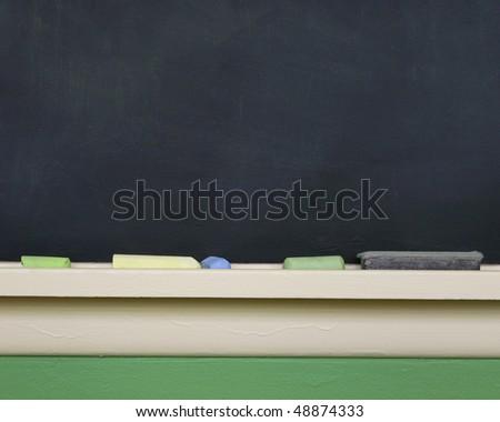 chalkboard or blackboard - stock photo