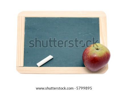 chalkboard school - stock photo