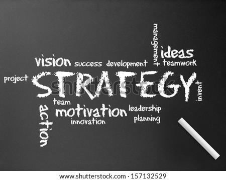 Chalkboard - Strategy - stock photo