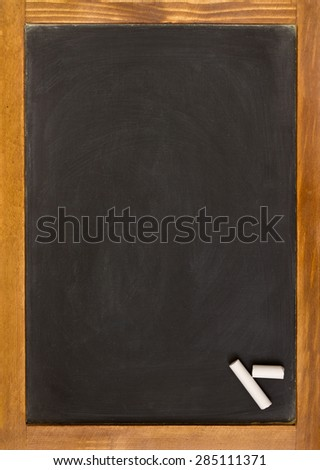 chalkboard with chalk