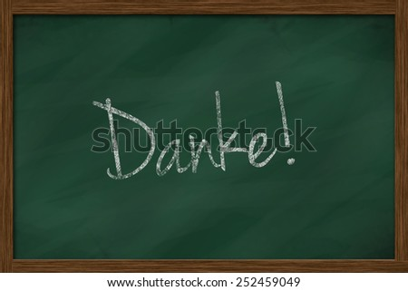 chalkboard with german text danke