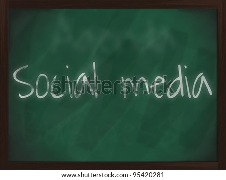 Chalkboard with wooden frame and the text - stock photo