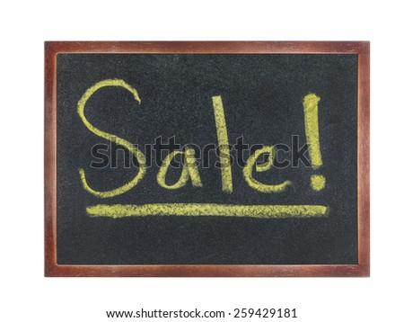 chalkboard with wording : Sale - stock photo