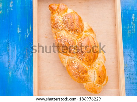 challah on the table - stock photo