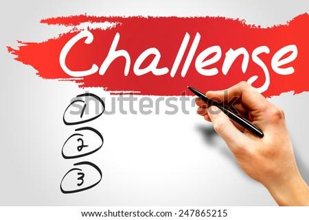 Challenge blank list, business concept - stock photo