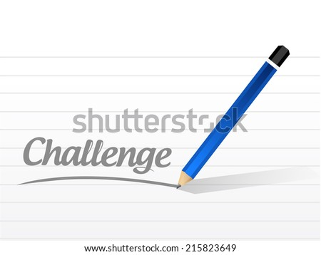challenge message illustration design over a white background - stock photo