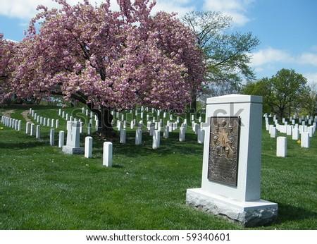 Challenger Memorial in Arlington National Cemetery, Arlington Virginia USA - stock photo