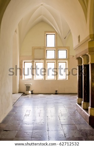 Chamber in greatest Gothic castle in Europe - Malbork. Teutonic castle. World Heritage List UNESCO. - stock photo