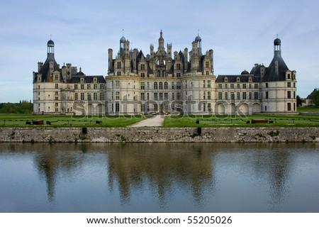 Chambord castle - stock photo