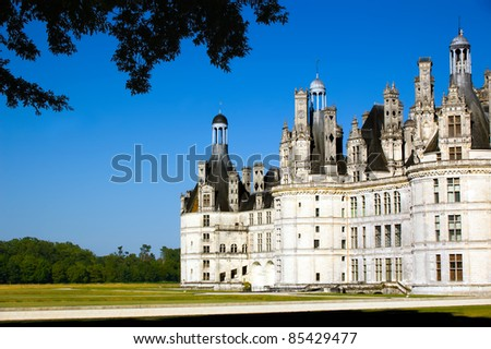 Chambord castle, France - stock photo